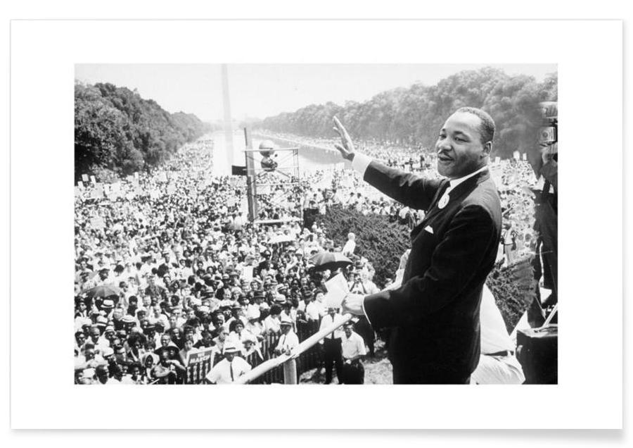 Martin Luther King, 1968 - Photographie affiche