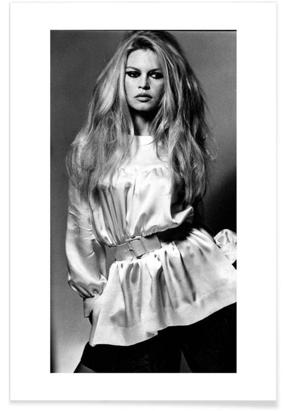 Sort & hvidt, Brigitte Bardot, Brigitte Bardot Vintage Photograph Plakat