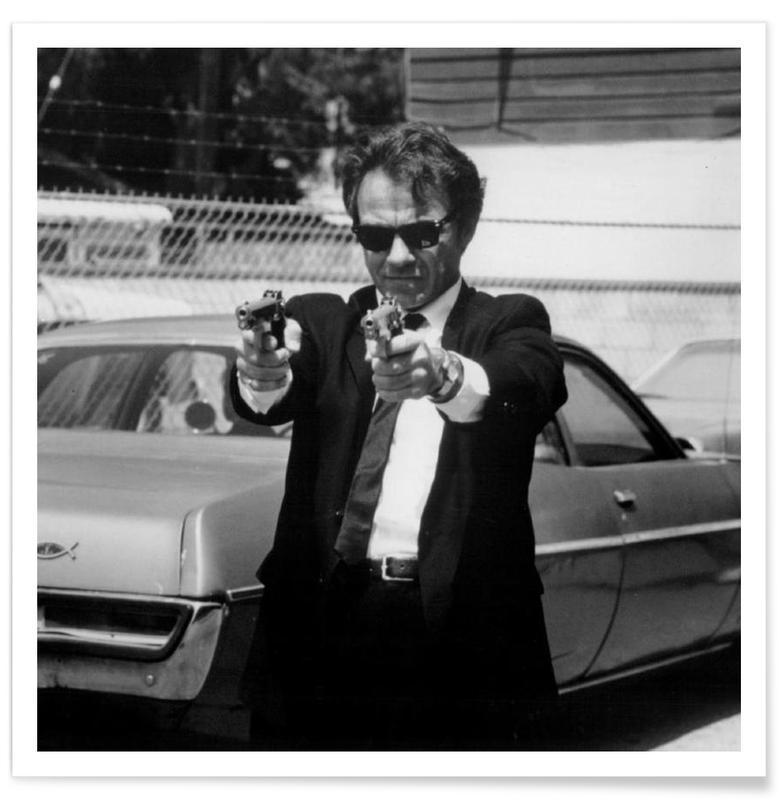 Noir & blanc, Films, Harvey Keitel dans Reservoir Dogs - Photographie vintage affiche