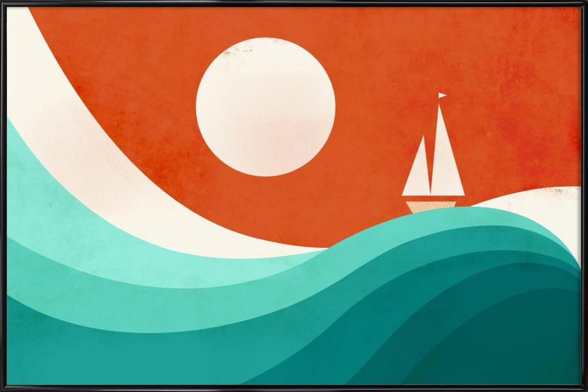 Wave Night ingelijste poster