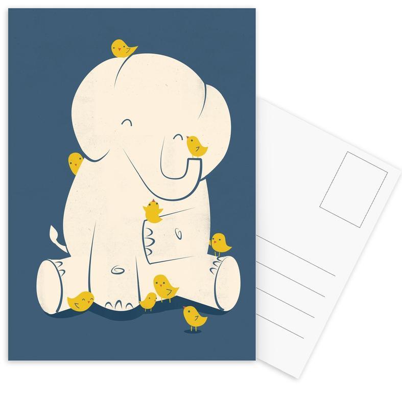 Elephants, Nursery & Art for Kids, Big Mama Postcard Set