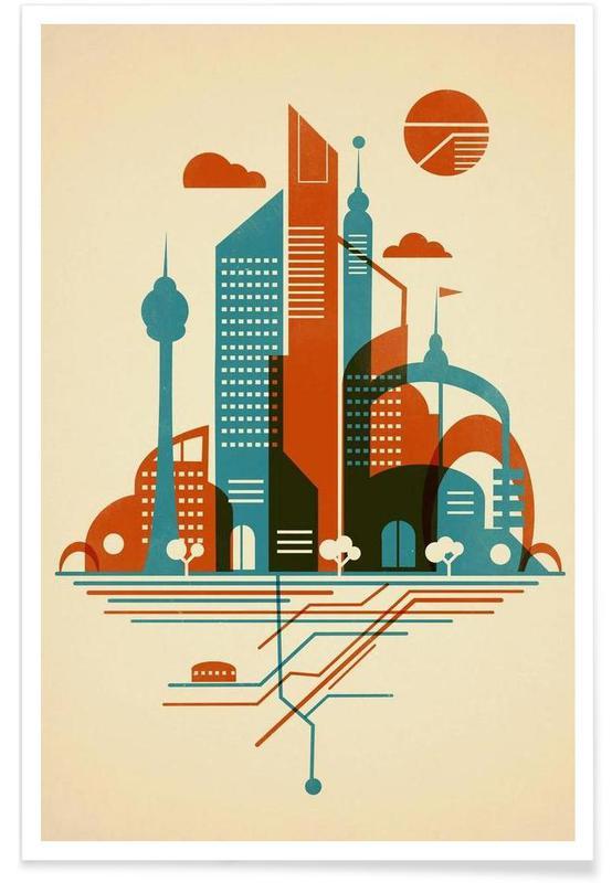Subway Sky -Poster