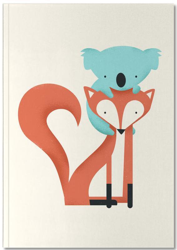 Nursery & Art for Kids, Foxes, Koalas, Fox and Koala Notebook
