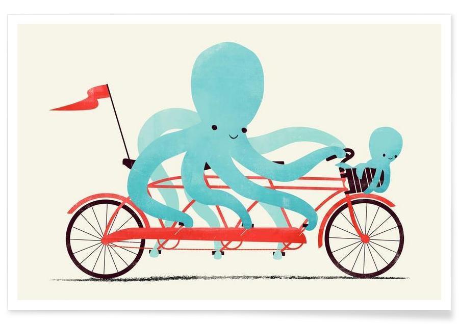 Art pour enfants, My Red Bike affiche