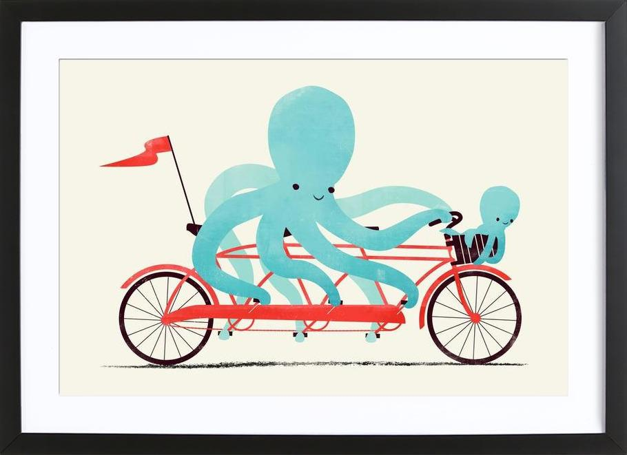 My Red Bike -Bild mit Holzrahmen