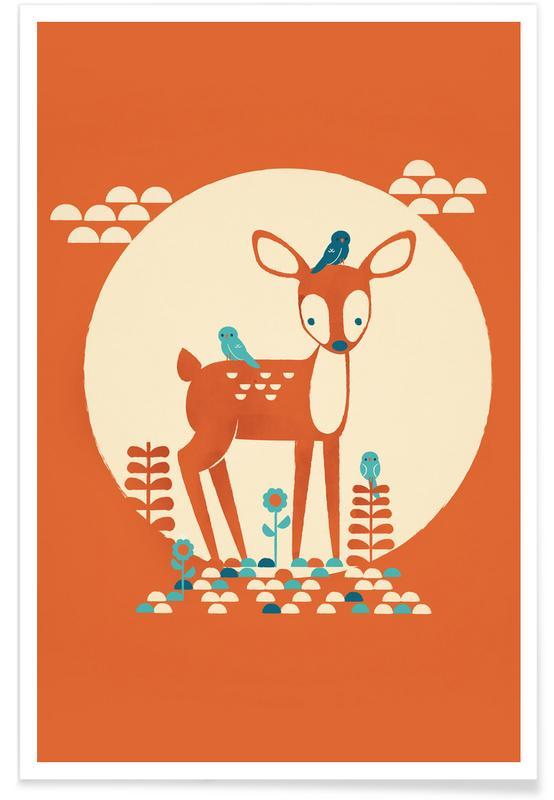 Herten, Kunst voor kinderen, Little Birds poster