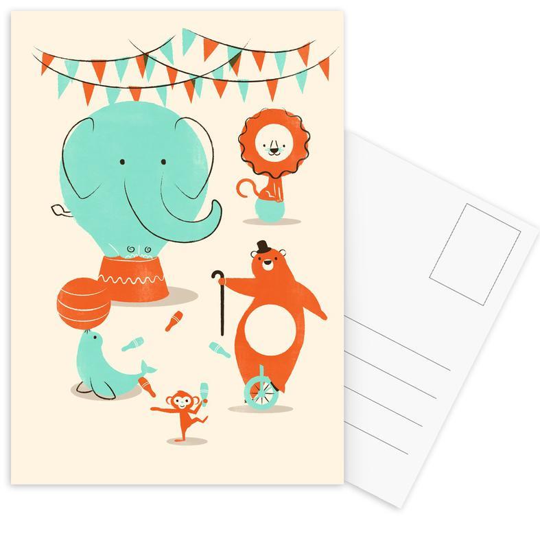 Nursery & Art for Kids, Circus Postcard Set