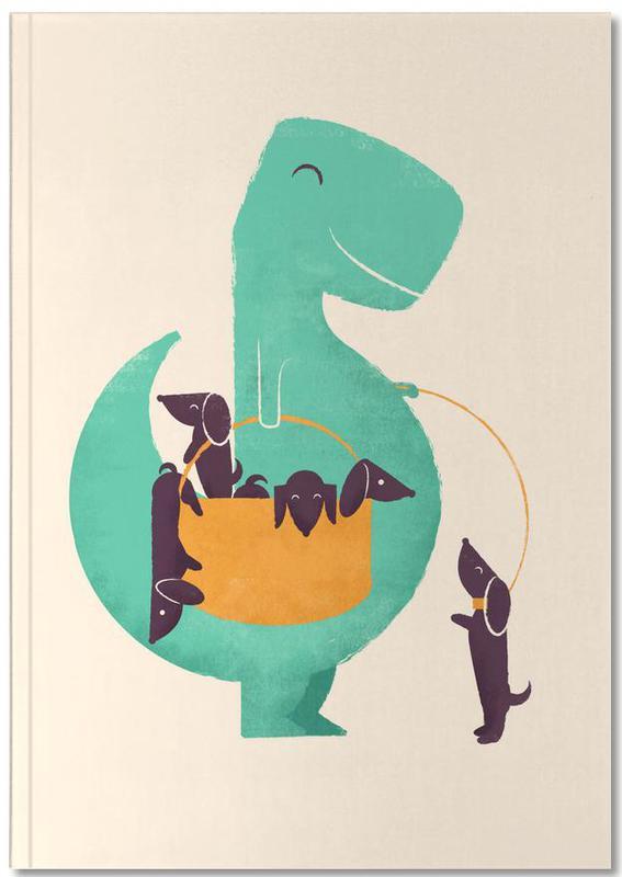 Dogs, Nursery & Art for Kids, Dinosaurs, Trex Weiner Notebook