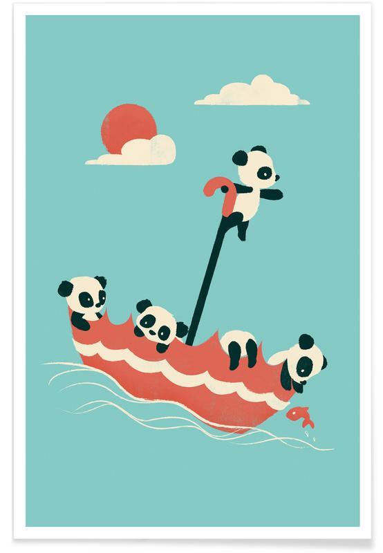Nursery & Art for Kids, Pandas, Float On Poster