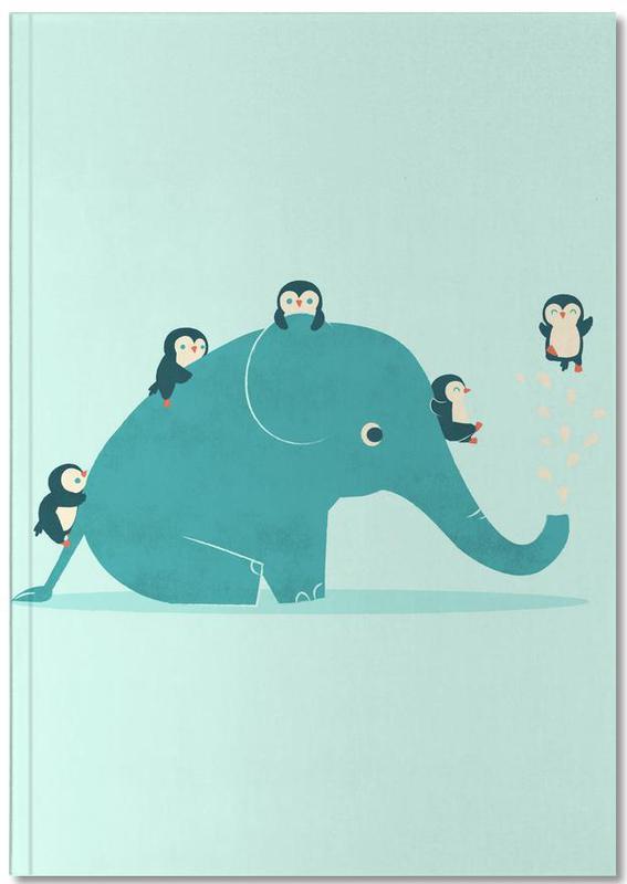 Nursery & Art for Kids, Penguins, Elephants, Waterslide Notebook