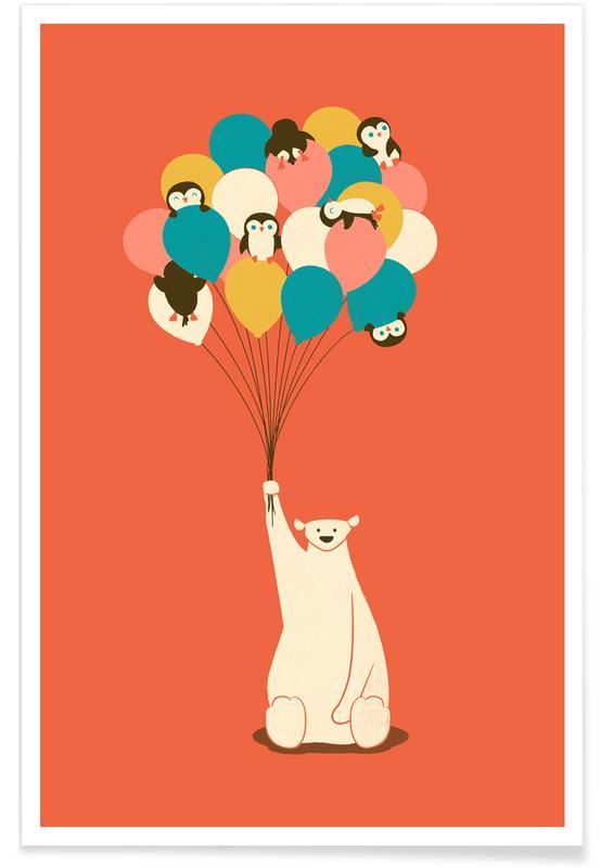 Penguin Bouqet Poster