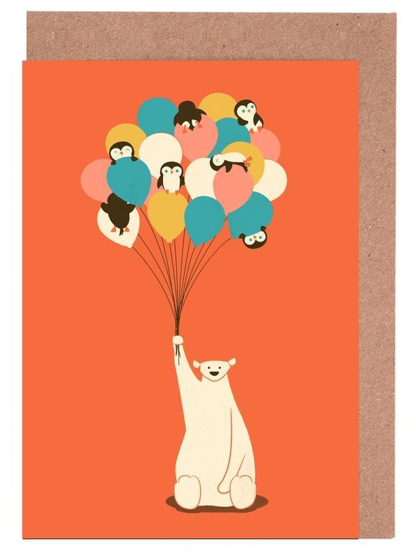 Penguin Bouqet Greeting Card Set