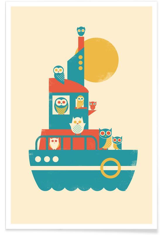 Nursery & Art for Kids, Owl A Board Poster