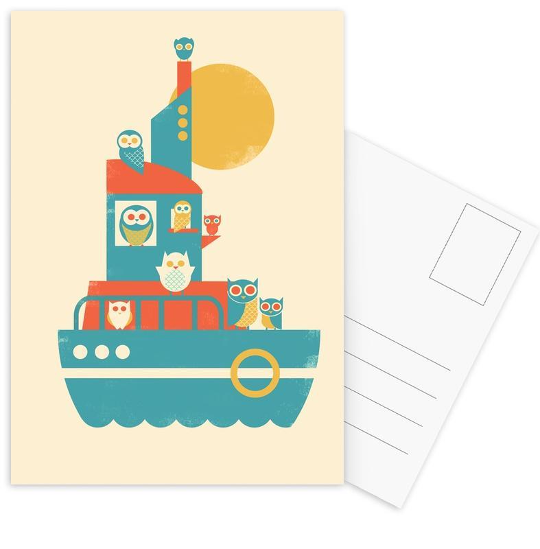 Nursery & Art for Kids, Owl A Board Postcard Set
