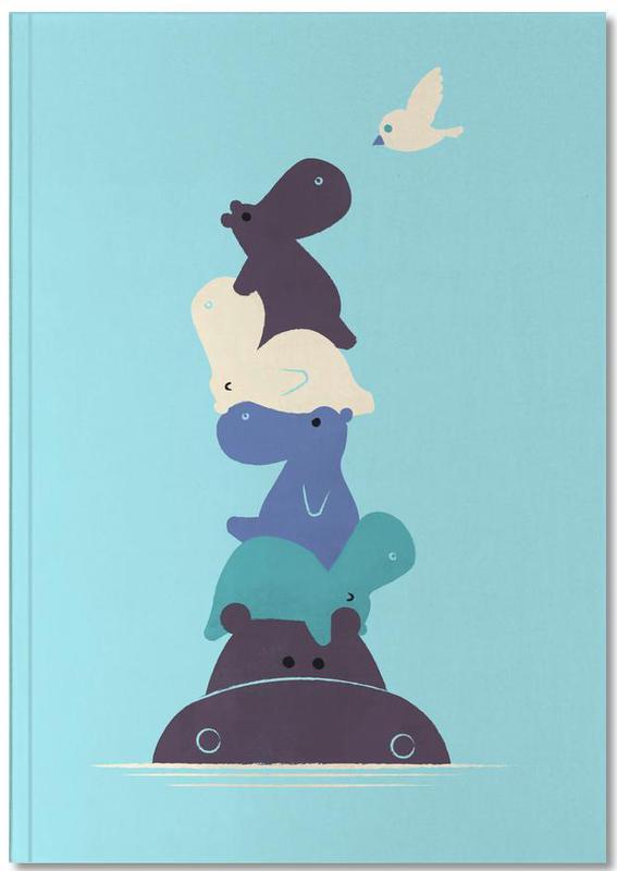 Hippopotames, Art pour enfants, Birdie Notebook