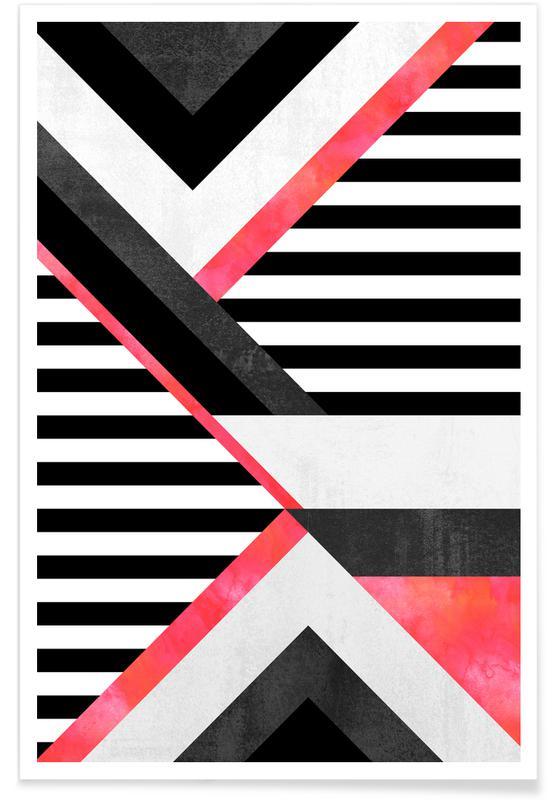 , Stripe Combination Poster