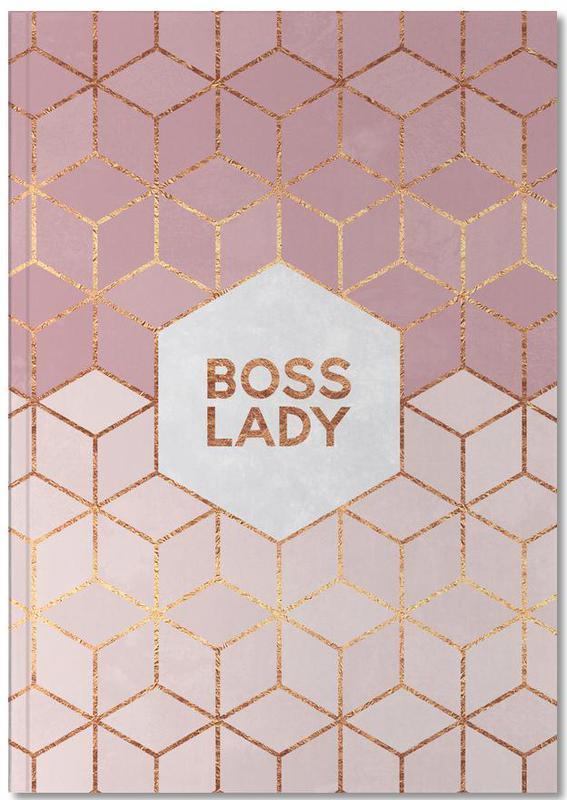 Quotes en slogans, Patronen, Motivatie, Boss Lady Notebook
