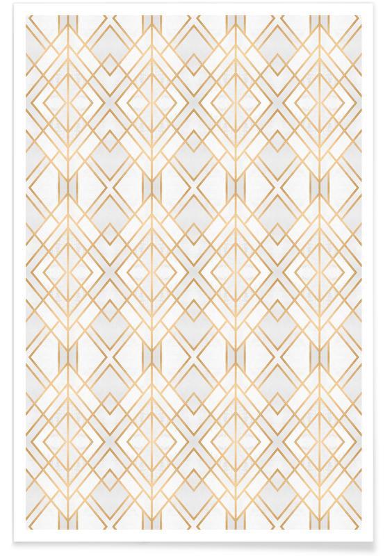 Patterns, Golden Geo Poster