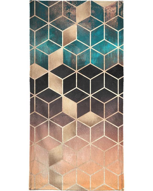 Ombre Dream Cubes -Handtuch
