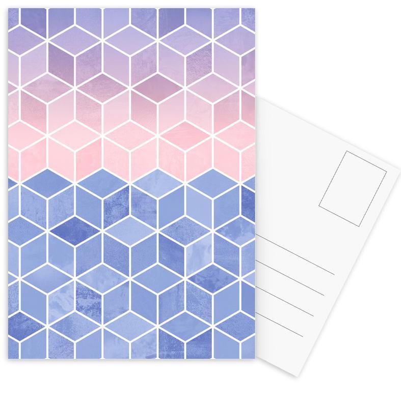 Rose Quartz and Serenity Cubes -Postkartenset