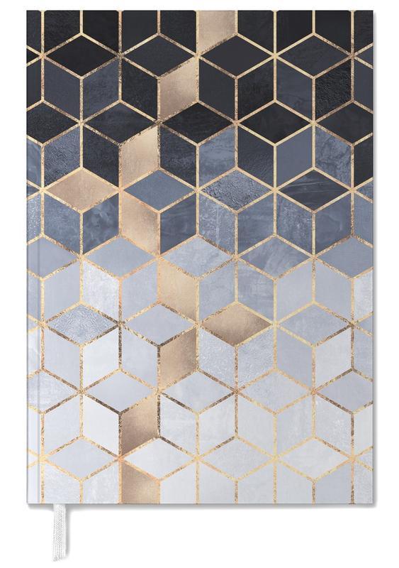 Soft Blue Gradient Cubes -Terminplaner