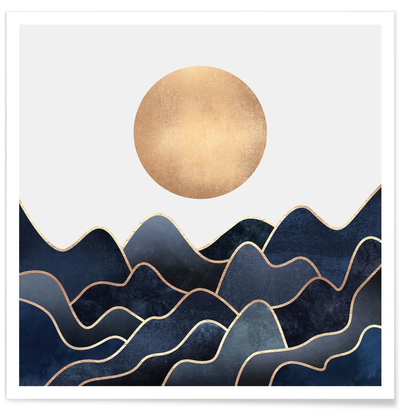 Abstract Landscapes, Waves Poster