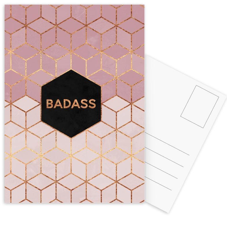 Badass -Postkartenset