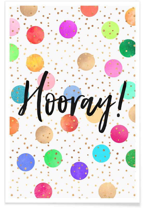 Congratulations, Motivational, Hooray Poster