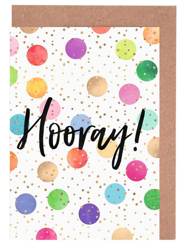 Glückwünsche, Motivation, Hooray -Grußkarten-Set