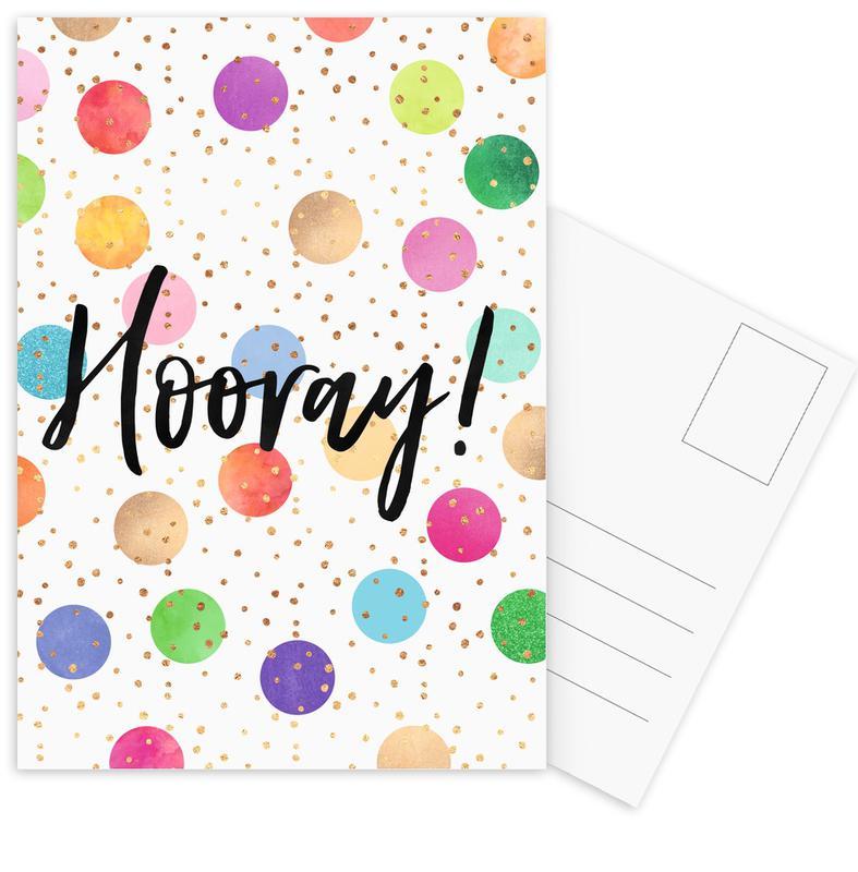 Hooray -Postkartenset