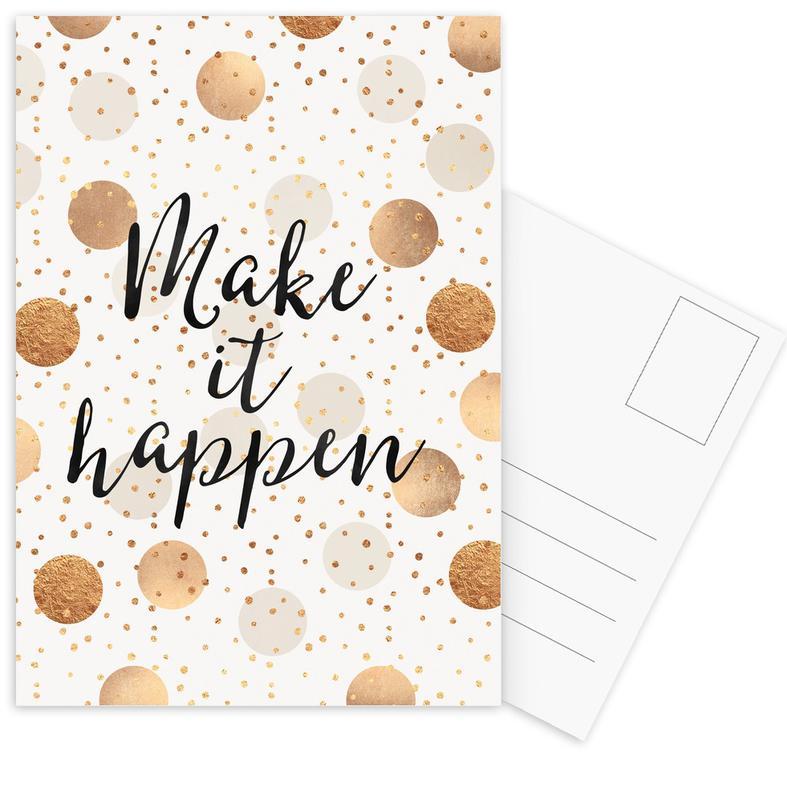Make it Happen -Postkartenset