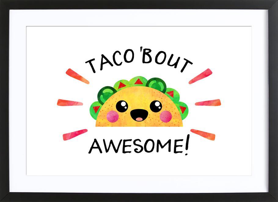 Taco Bout Awesome ingelijste print