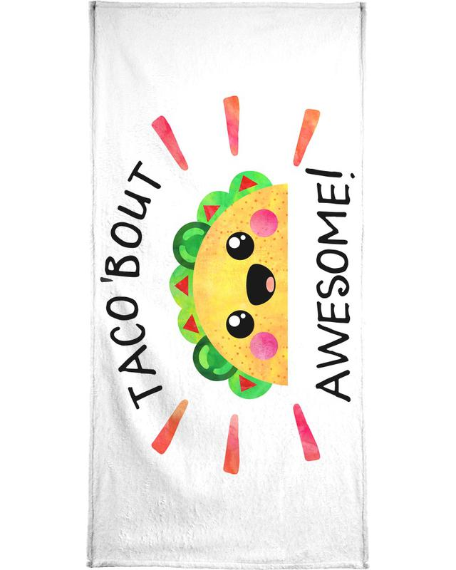 Congratulations, Quotes & Slogans, Motivational, Taco Bout Awesome Beach Towel