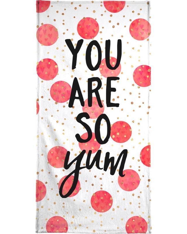 Hochzeiten, Glückwünsche, Zitate & Slogans, You Are So Yum -Strandtuch