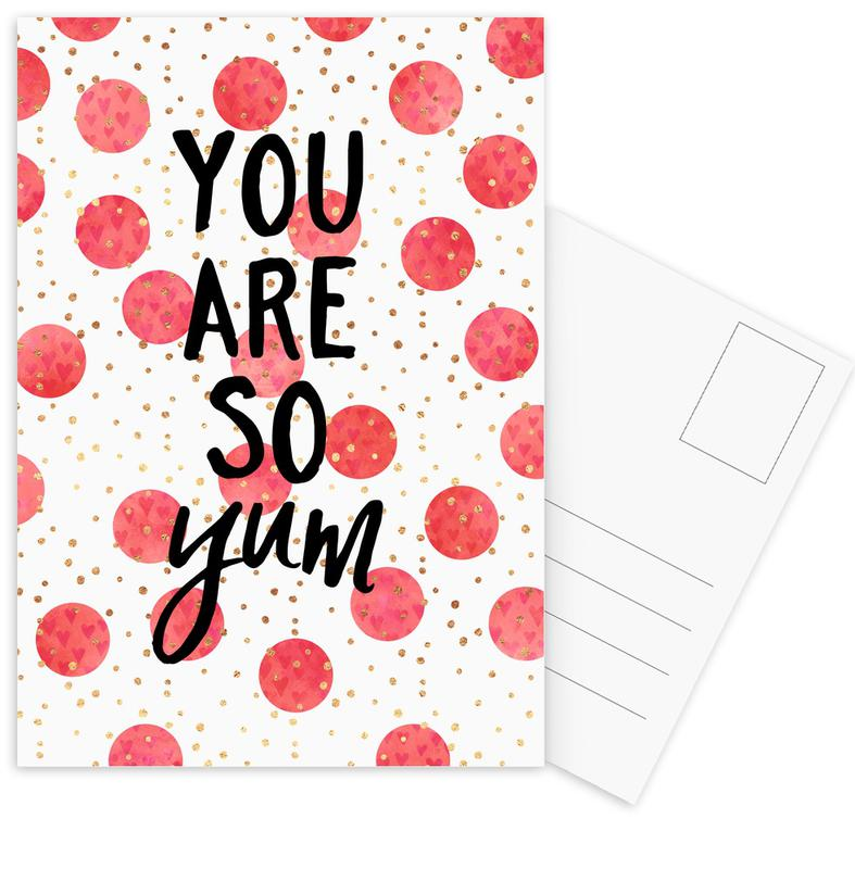 You Are So Yum -Postkartenset