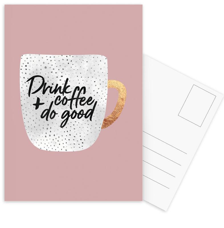 Drink Coffee and Do Good 2 -Postkartenset