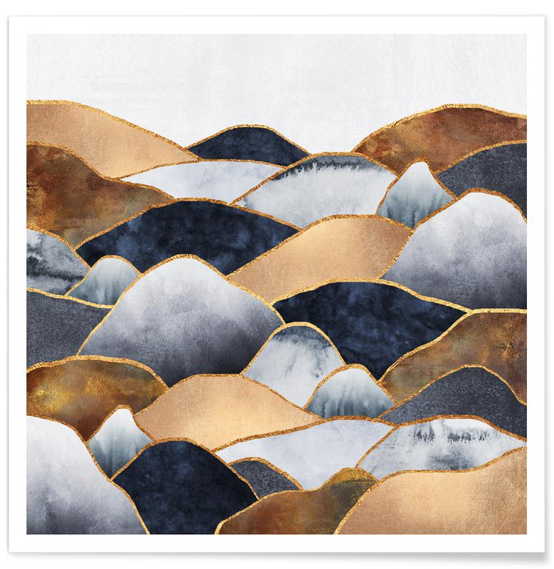 Abstract Landscapes, Hills Poster