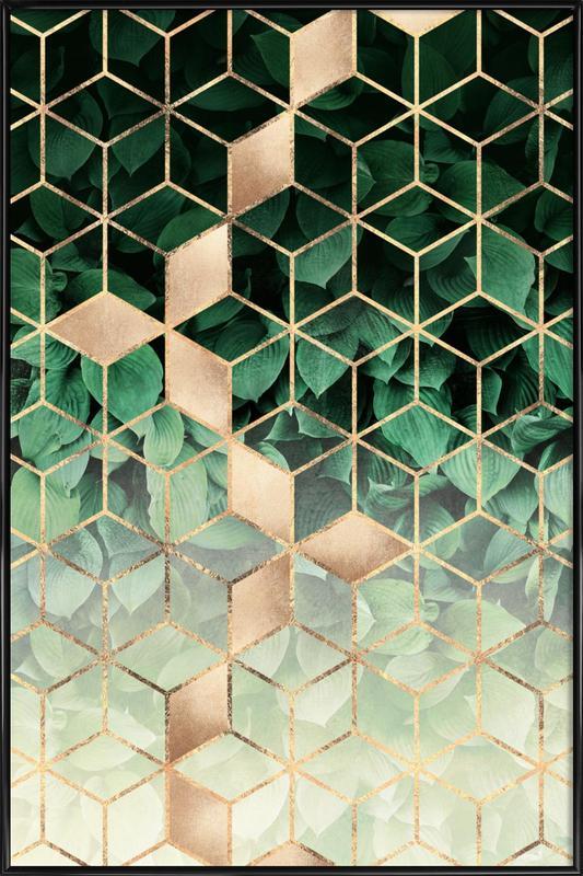 Leaves & Cubes Framed Poster