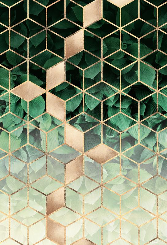 Leaves & Cubes alu dibond