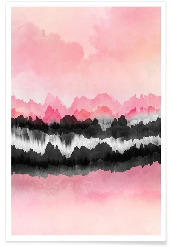 Abstract Landscapes, Pink Mountains Poster