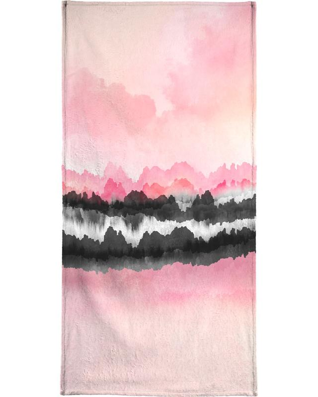 Abstract Landscapes, Pink Mountains Beach Towel
