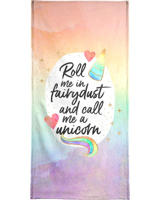 Felicitaties, Motivatie, Roll Me in Fairydust strandlaken
