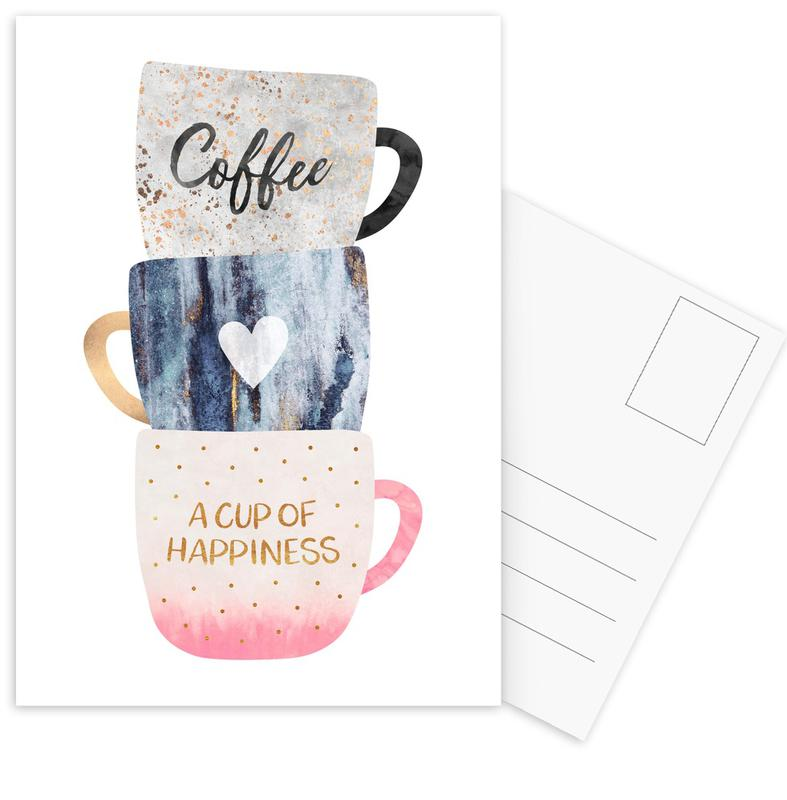 A Cup of Happiness -Postkartenset