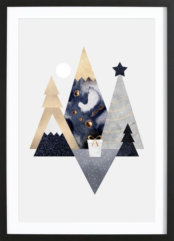 Christmas Mountains Framed Print