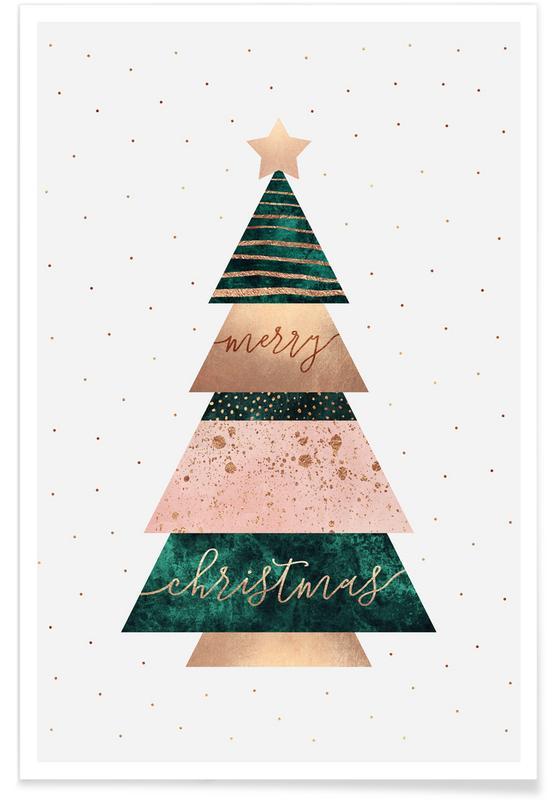 Christmas, Merry Christmas Tree Poster