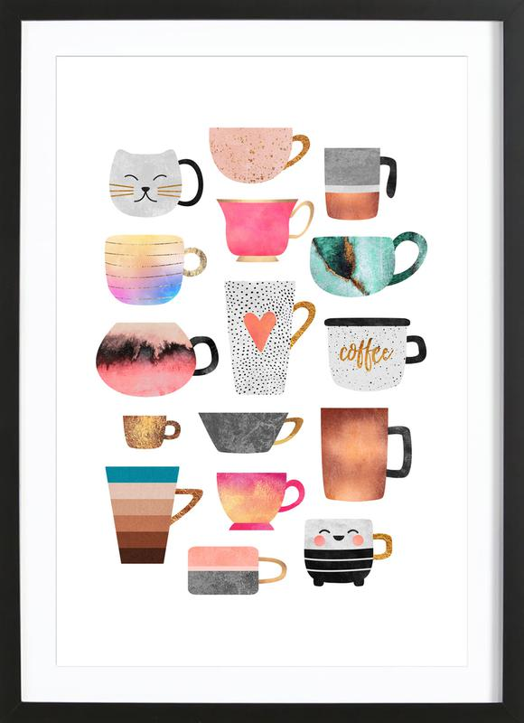 Coffee Cup Collection Framed Print