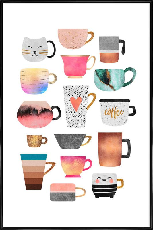 Coffee Cup Collection Framed Poster