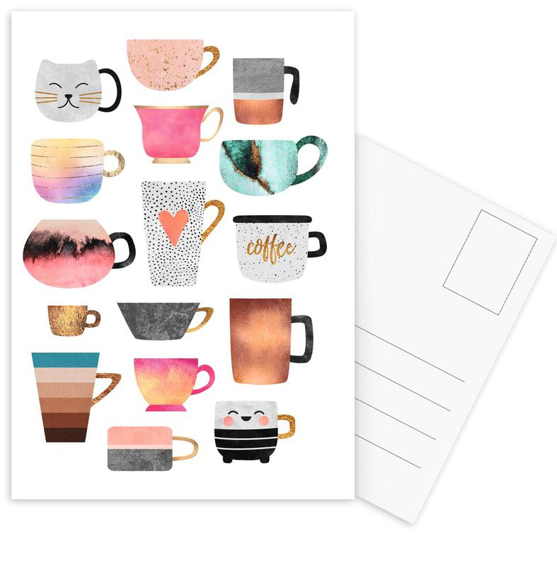Coffee Cup Collection -Postkartenset