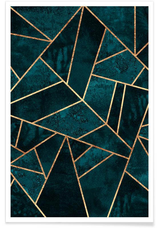 Deep Teal Stone -Poster