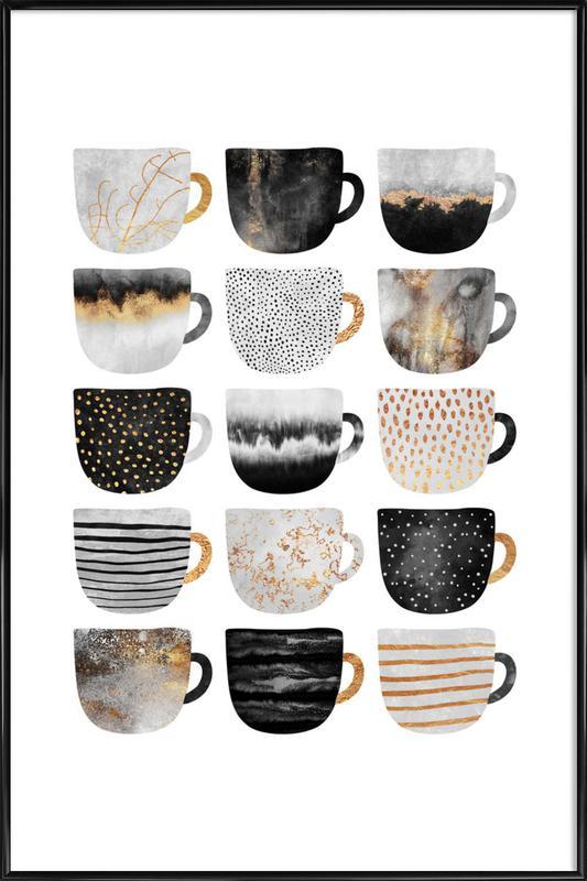 Pretty Coffee Cups 3 ingelijste poster